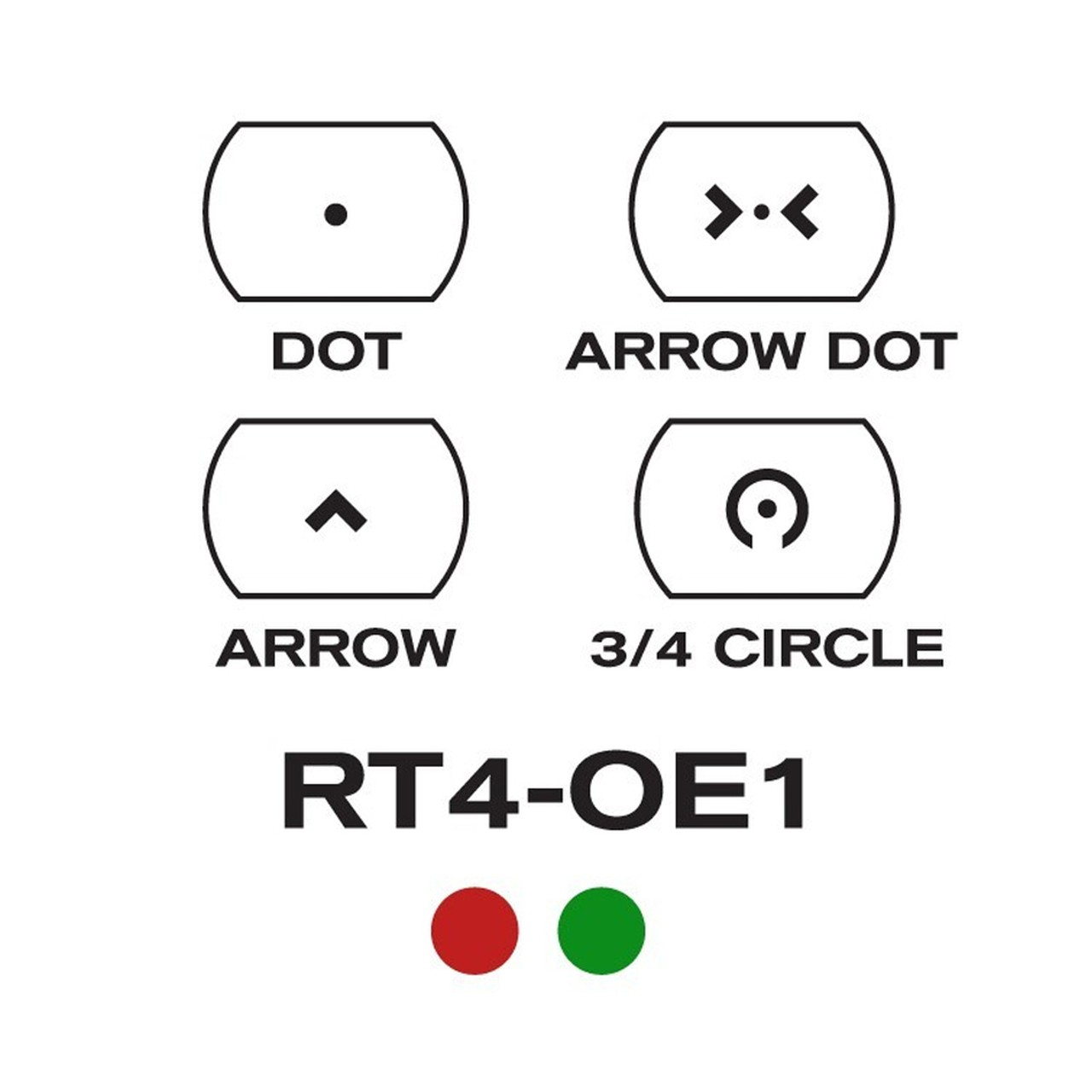 Aim Sports 1X34MM Dual ILL  w/4 Different Reticles/Operator Edition -  AR15Discounts