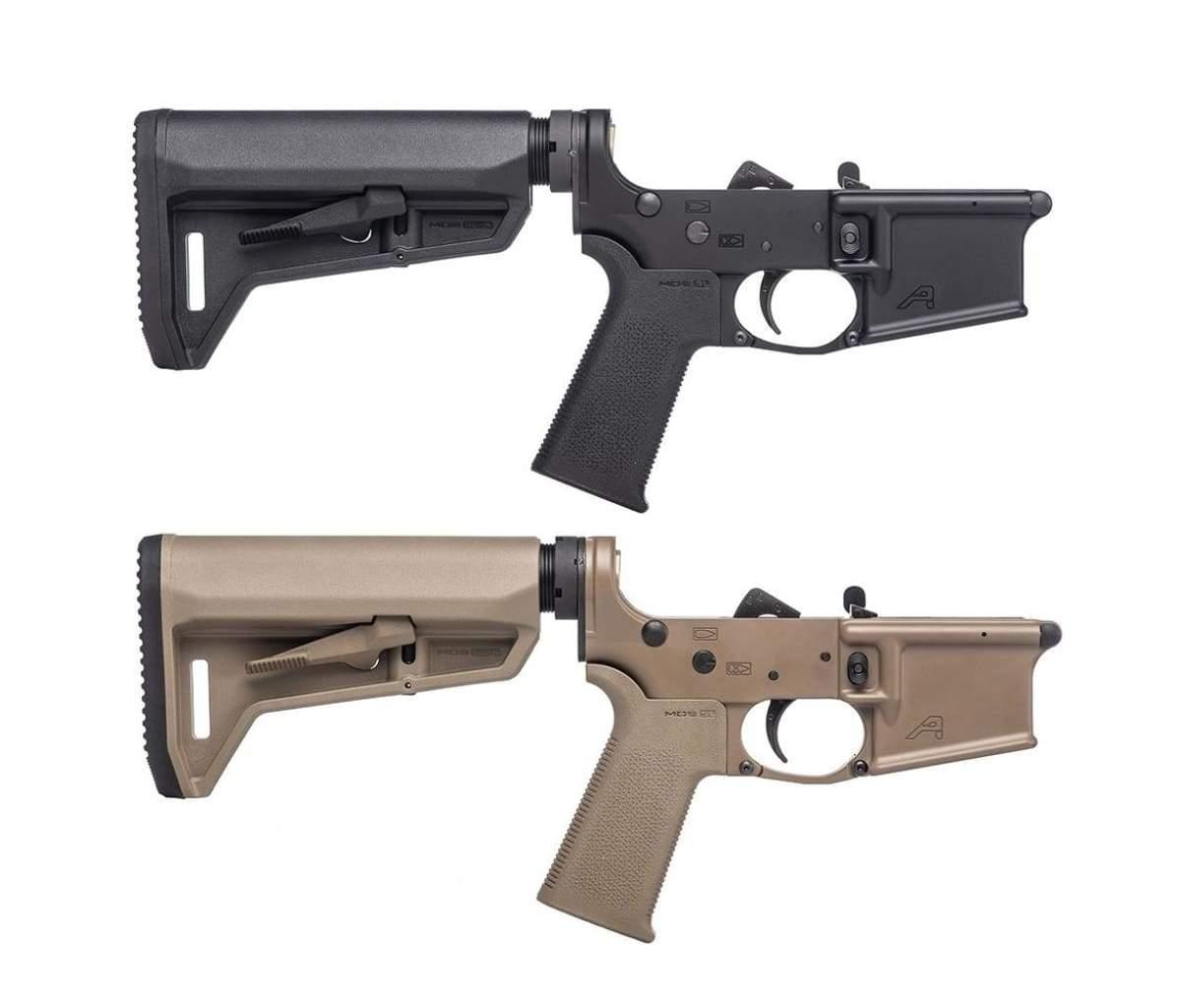 Aero Precision AR-15 Complete Lower Receiver w/ MOE SL Grip & SL-K Carbine  Stock