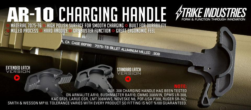 Strike Industries Extended Latch Charging Handle for AR-10