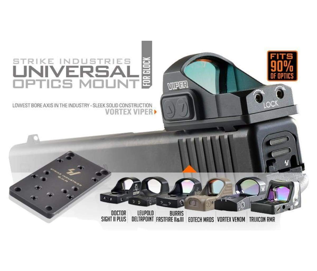 Strike Industries Glock Universal (Optics) Mount - Black - AR15Discounts